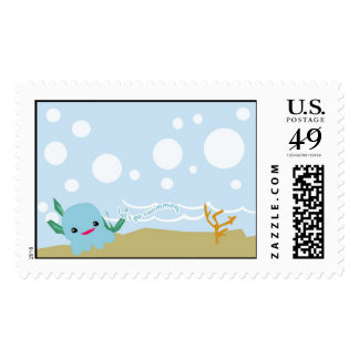 Let's go swimming... stamp