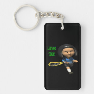 Lets Go Team Keychain