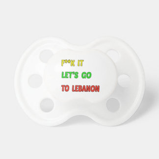 Let's Go To Lebanon. BooginHead Pacifier