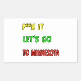 Let's Go To MINNESOTA. Rectangular Sticker