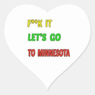 Let's Go To MINNESOTA. Heart Sticker