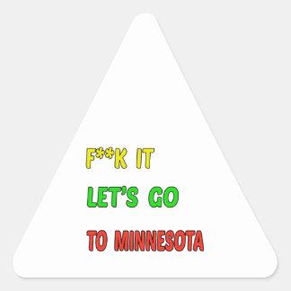 Let's Go To MINNESOTA. Triangle Sticker