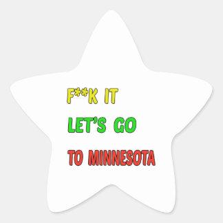 Let's Go To MINNESOTA. Star Sticker