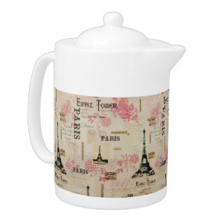 """Let's Go To Paris!"" Porcelain Teapot"