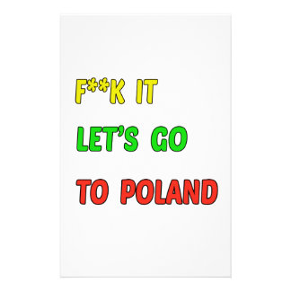 Let's Go To Poland. Stationery