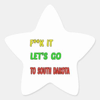 Let's Go To SOUTH DAKOTA. Star Sticker