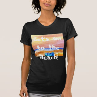 Let's Go to the Beach Women's Pretty Tshirt