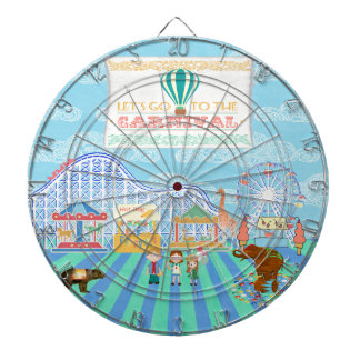 Lets Go to the Carnival, Roller Coaster, Ferris Wh Dartboard