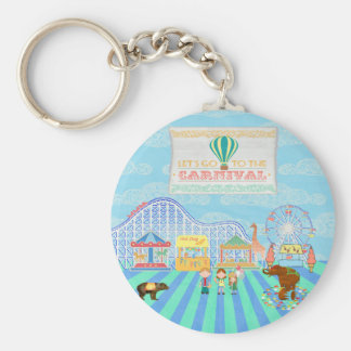 Lets Go to the Carnival, Roller Coaster, Ferris Wh Key Chain