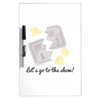 Let's Go To The Show! Dry-Erase Whiteboards