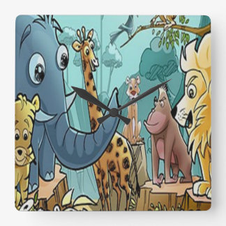 Lets Go To The Zoo Wall Clock