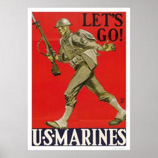 Let's Go!  U.S. Marines. Print