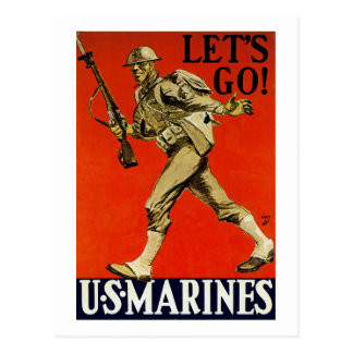 Let's Go! ~ US Marines Postcard