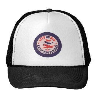 Lets go USA Keep em flying Mesh Hats