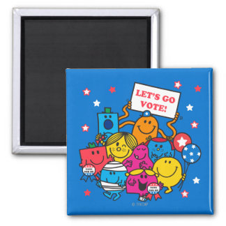 Let's Go Vote! 2 Inch Square Magnet
