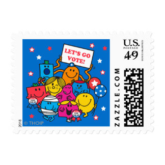 Let's Go Vote! Postage Stamps