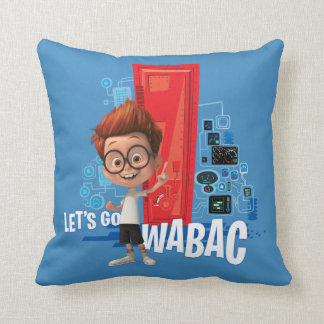 Let's Go Wabac Throw Pillow