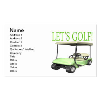 Lets Golf Business Card