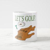 Lets Golf Extra Large Mugs