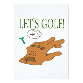 Lets Golf 5x7 Paper Invitation Card