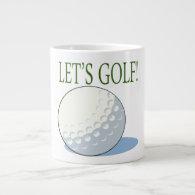 Lets Golf Jumbo Mugs