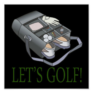 Lets Golf Posters