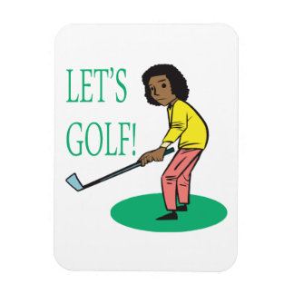 Lets Golf Rectangle Magnet
