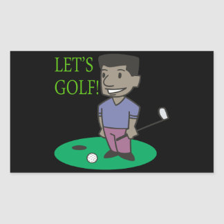 Lets Golf Rectangular Sticker