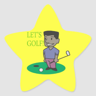 Lets Golf Star Sticker