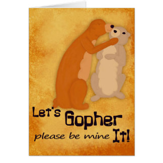Let's Gopher It Love Card