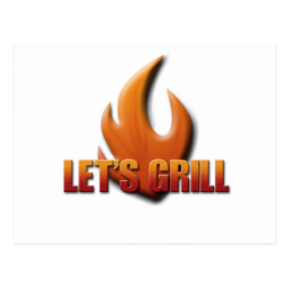 Let's Grill Postcard