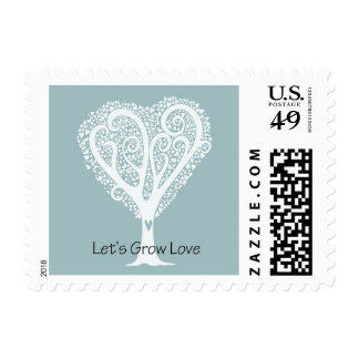 Let's Grow Love Postage Stamp