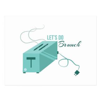 Lets hace brunch tarjetas postales