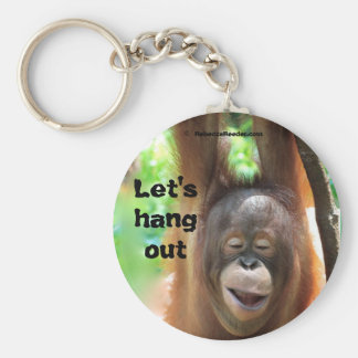 Let's Hang Out Animal Basic Round Button Keychain