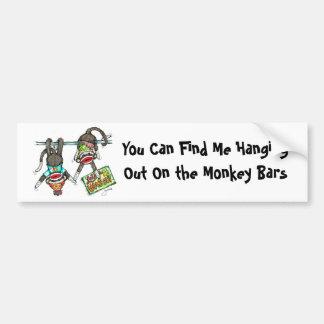 Let's Hang Out - Sock Monkeys Bumper Sticker