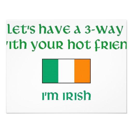 Let's Have a 3-Way I'm Irish Invitation