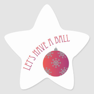 Let's Have A Ball Star Sticker