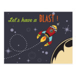 Let's have a Blast Birthday Invites Post Cards