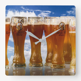 Let's have a cold one! It's 5 o'clock somewhere! Square Wall Clock