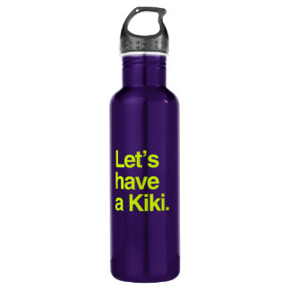 Let's have a kiki (neon) 24oz water bottle