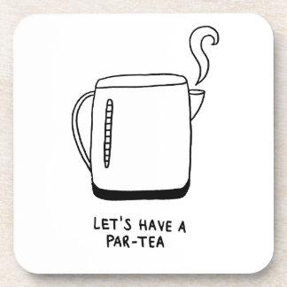 Let's Have a Par-Tea Beverage Coaster