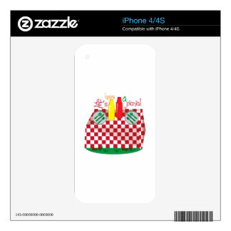 Lets Have a Picnic Decals For The iPhone 4S