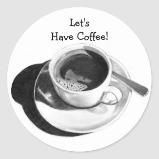 LET'S HAVE COFFEE! PENCIL ART, STICKERS