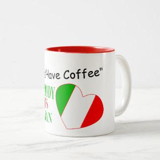 Lets Have Coffee Two-Tone Coffee Mug
