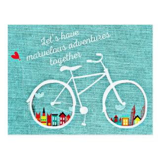 Let's Have Marvelous Adventures Together Postcard