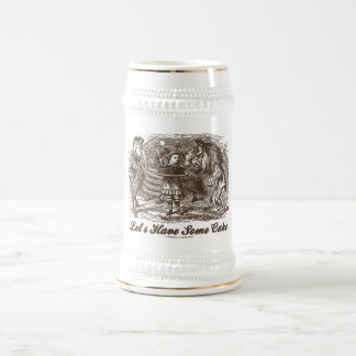 Let's Have Some Cake (Alice Unicorn Lion) Beer Stein