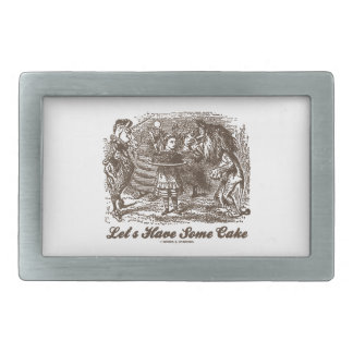 Let's Have Some Cake (Alice Unicorn Lion) Belt Buckle