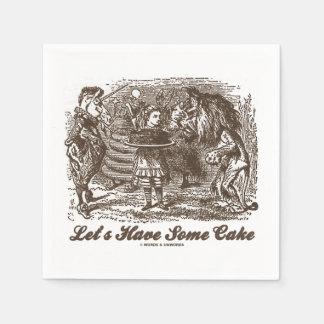 Let's Have Some Cake (Alice Unicorn Lion) Paper Napkin