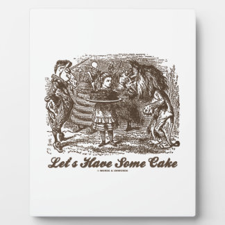 Let's Have Some Cake (Alice Unicorn Lion) Plaque