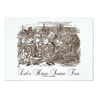Let's Have Some Tea (Wonderland Alice) Card